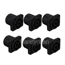 6x Speakon Female Jack Audio Speaker Cable 4Pole Panel Chassis Socket Connectors