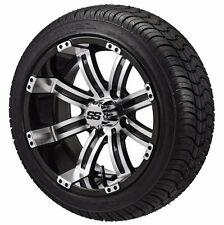 Set of 4 - 205/30-14 Tire on a 14x7 Black/White Type 9 Wheel w/FREE freight