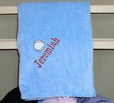 Microfibre Blanket, baseball, Embroidered, Personalized