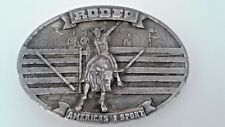 Rodeo Americas #1 Sport Vintage Metal Mens Belt Buckle 1977 Bergamot Brass Works