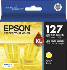 Epson Genuine 127 Yellow Single Unit Ink Cartridge OEM Packaging EXP. 2019