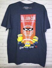 Minions Villain-Con International Despicable Me Blue Graphic Tee T-Shirt Mens L