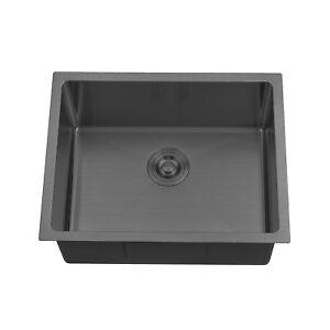 BOANN UM2318-BLK Undermount Kitchen Single Bowl Sink - 23 x 18 -  BLK