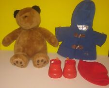 Build-A-Bear UK EXCLUSIVE PADDINGTON TEDDY England with OUTFIT Hat Jacket Boots