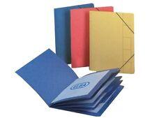 2 x Elba Organizzatore cartone compresso con elastico 5 file di parti ministeriale BLU 100090166