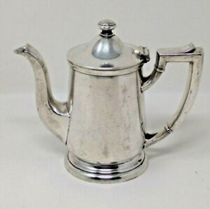 Hotel El Conquistador Tucson AZ Silver 8oz Teapot by International Silver