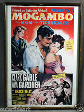 """Lithograph Reprint of MGM Movie Poster """"Mogambo"""" with Clark Gable Ava Gardner"""