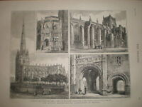 Bristol Cathedral & St Mary Redcliffe 1874 prints