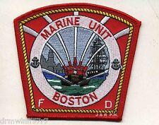 "Boston  Marine Unit, MA (4"" x 3.75"" size) fire patch"