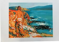 """Nicola Simbari """"St. Kitts"""" Strolling on Sandy beach Pencil Signed/# Lithograph"""