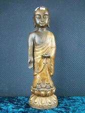 Buddha Bronze Tibet Skulptur Mönch Asiatika - 45 cm