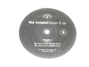 "THE TWISTER - Clean it up - UK 2-track 12"" DJ PROMO Vinyl Single"