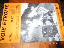 Voie Etroite n°67 Tram Mont Blanc Vivarais Touraine