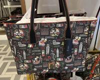 2021 Disney Parks Dooney & Bourke Mickey Minnie Mouse Italy Italia Tote Bag New