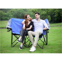 Ozark Trail Two Person Conversation Steel Outdoor Camping Quad Chair Love Seat