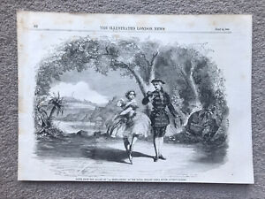 LA BRESILIENNE BALLET ROYAL ITALIAN OPERA HOUSE 1858 ENGRAVING Antique Print