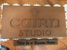 Cairn Tom Clark Cairn Studio Sign, This is a Gnome Home