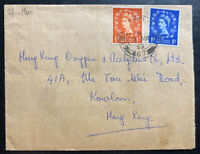 1955 British Field Post Office 67 Hong Kong Airmail Cover To Kowloon