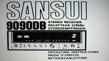 Sansui 9090 récepteur stéréo operating instructions inc conn sanhq bound anglais