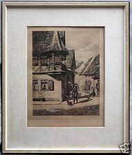 Rothenburg o.d.T Wilhelm Schacht Radierung Feuerleins Erker