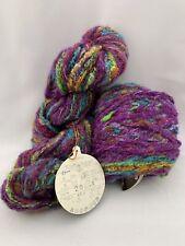 2 Skeins PURPLE GREEN Yarn NORO BLOSSOM #20 77 Yards/Skein Wool Bulky? Weight