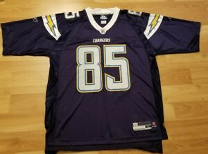 San Diego Chargers Reebok OnField Jersey #85 ANTONIO GATES Large
