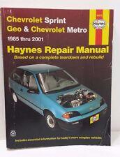 Chevrolet Sprint Geo & Chevrolet Metro 1985 - 2001 Haynes Manual Repair Book