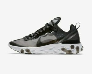 Nike React Element 87 White/Black Running Shoes MENs SIZE 8 (FOR WOMEN SZ 9.5)