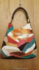 Lucky brand leather patchwork shoulderbag handbag purse