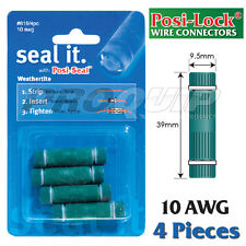 POSI-LOCK 10 AWG WEATHERTITE WIRE CONNECTORS with INTERNAL SEAL - 4 PK