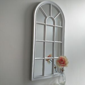 Arch Window style wall mirror Girls room Hallway white window mirror home decor