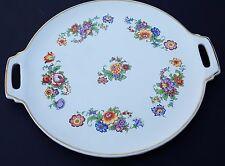 Germany Porcelain Ceramic Serving Tray Display Plate Platter Floral Gold 6795