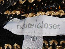 WHITE CLOSET GoldSequinTubeStretchPartyMini Size10 NWoT