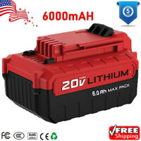For PORTER CABLE PCC685L 20V 6.0AH MAX Lithium PCC680L 6.0Amp Hour Drill Battery