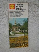 Vintage 1971 Shell Delaware, Maryland, Virginia, West Virginia Map, Collectible