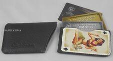 Robert Graham Leather Thin ID Credit Card Holder Wallet Bikini Hawaii Girl