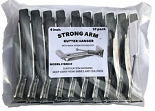 "Strong Arm Quick Screw 6"" 10 Pack Heavy Duty Hidden Rain Gutter Bracket Hook"