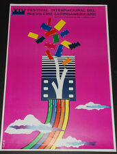 "1992 Cuban movie Poster.Plakat.Affiche""Cinema Festival art""Super Rare! offset."