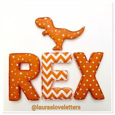 One Fabric Letter Wall Art Handmade Padded, Nursery, name, personalised