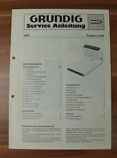 R-Player segreteria telefonica Teleboy 1000 Grundig Service Manual Istruzioni di servizio