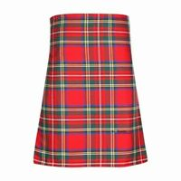 New Scottish Tartan Wedding Mens Kilt 8 Yard Polyviscose in Royal Stewart Modern