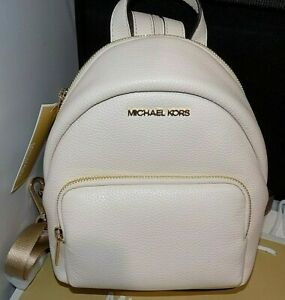 Authentic MICHAEL KORS MK ERIN Small Leather Backpack Lt Cream $348.00 Cute NWT_