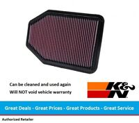 K&N Replacement Air Filter for Jeep JK Wrangler, 33-2364