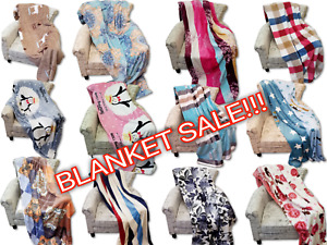 Queen & King Flannel Blanket Soft Elegant 16 Designs Patterns End of Year Sale!!