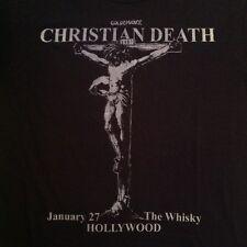 VTG CHRISTIAN DEATH 1987 RARE GOLDENVOICE HOLLYWOOD CONCERT T-SHIRT 80s NOS tour