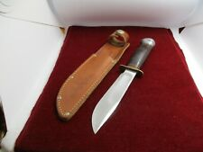 VINTAGE MARBLE'S IDEAL KNIFE 5 INCH BLADE w/ORIGINAL SHEATH - circa 1940's