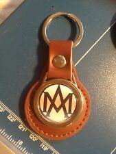 ASTON MARTIN REAL LEATHER KEY RING WITH 1914 LOGO, FREE ASTON LOGOS STICKER