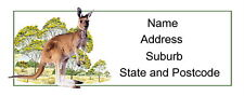 30 Personalised Quality Plus Adhesive Address Labels - Kangaroo