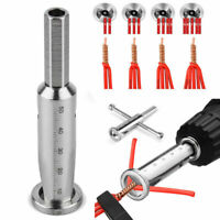 Universal Electric Cable Twist Quick Connector Drill Bit Wire Stripper Tool TOP