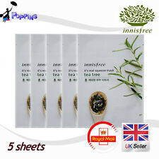 5 X New Innisfree Its Real Squeeze Series Sheet Mask Teatree (20ml x 5)